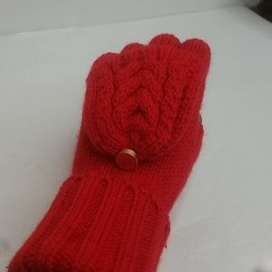 NWT Merona Flip Top Mittens Red O/S Adult